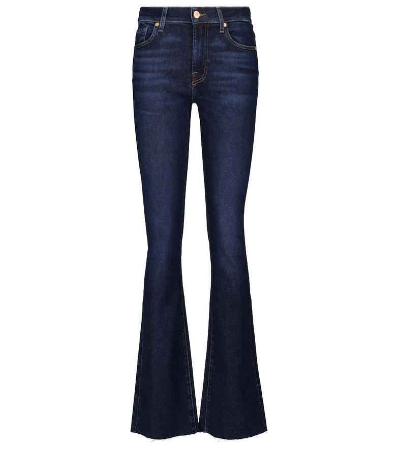 7 For All Mankind Bootcut mid-rise bootcut jeans in blue