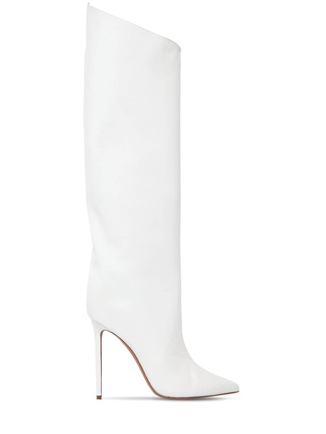 ALEXANDRE VAUTHIER 110mm Alex Leather Boots in white