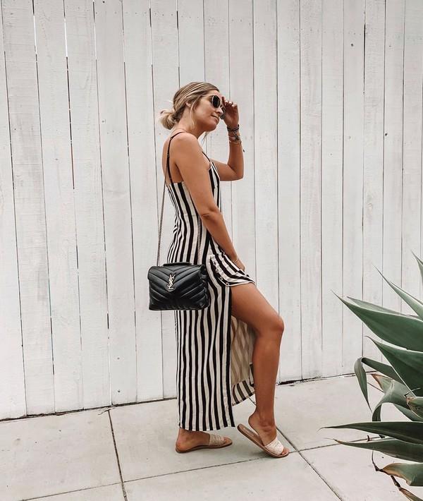 dress maxi dress long dress striped dress stripes shoes