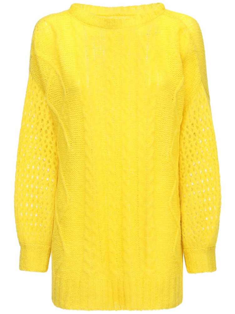 GUDRUN & GUDRUN Aphrodite Alpaca Blend Knit Sweater in yellow