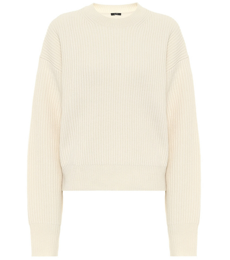 Joseph Ribbed-knit wool sweater in white