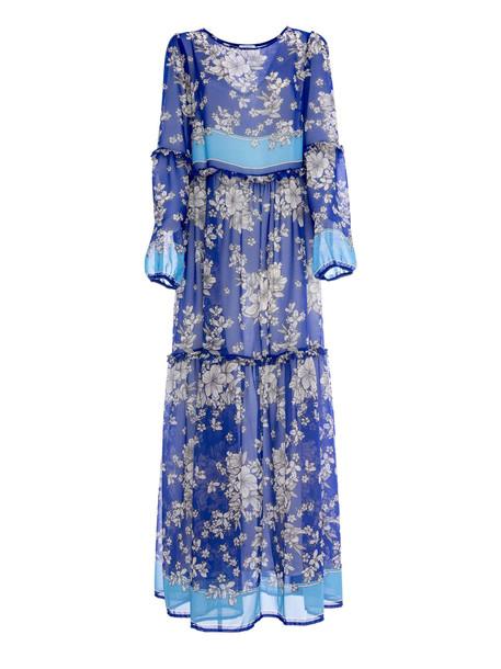 Parosh P.a.r.o.s.h. Georgette Dress in blue