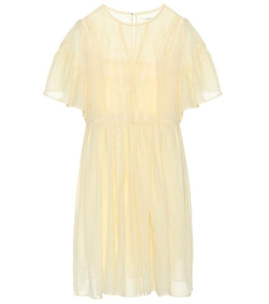 Isabel Marant, Étoile Annaelle cotton lace minidress in yellow