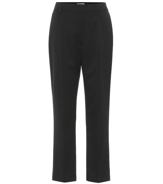 Prada Straight wool trousers in black
