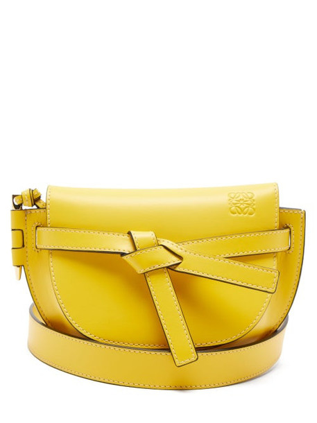 Loewe - Gate Mini Leather Belt Bag - Womens - Yellow