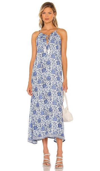 Natalie Martin Marleen Dress in Blue in print