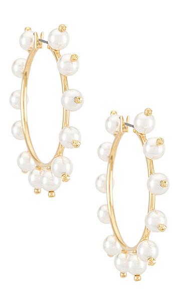 DANNIJO Coletta Earrings in Metallic Gold