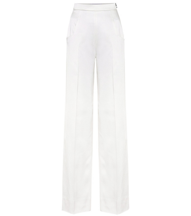 Roland Mouret Ward high-rise wide-leg pants in white