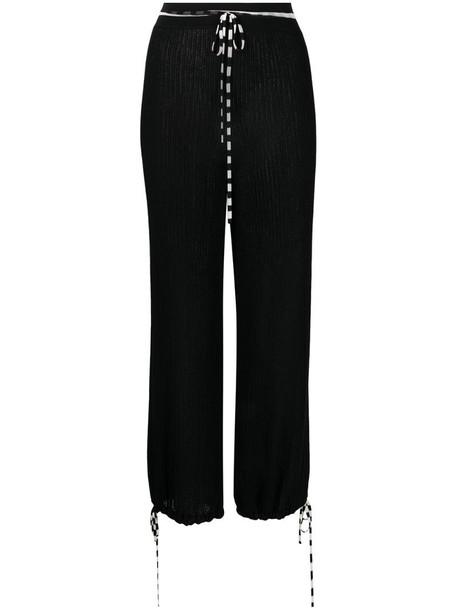 Missoni two-tone drawstring trousers in black