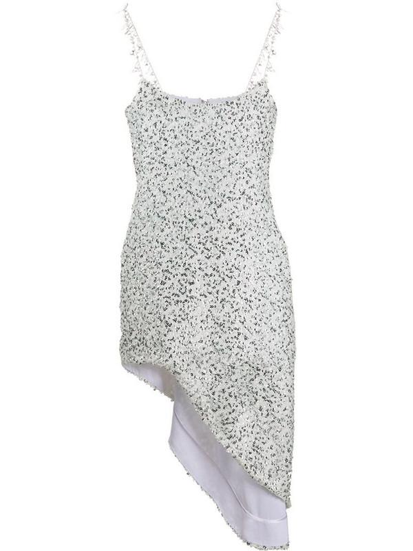 Halpern Georgette sequin dress in white