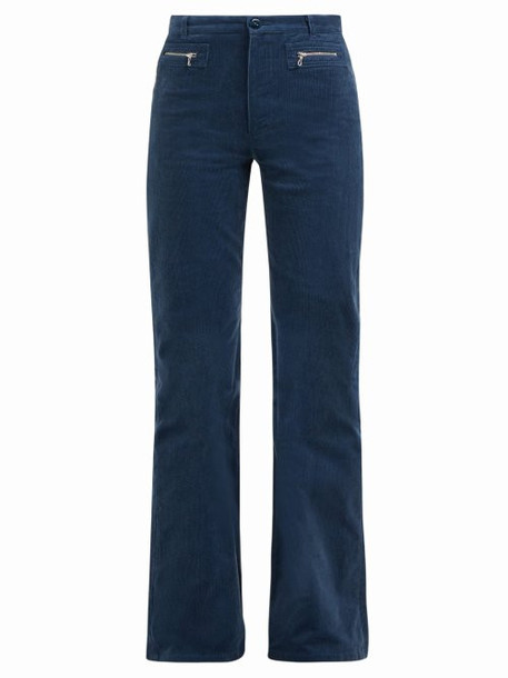 A.P.C. A.p.c. - Newport Corduroy Straight Leg Jeans - Womens - Blue