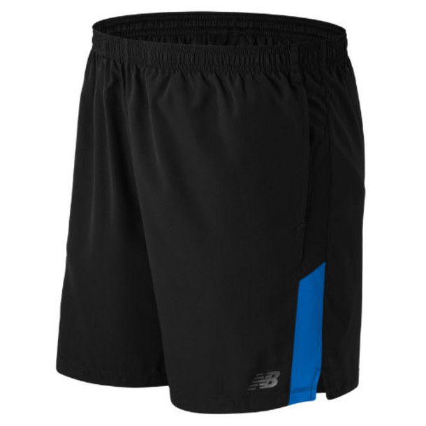 New Balance 53070 Men's Accelerate 7 Inch Short - Black/Blue (MS53070BDA)