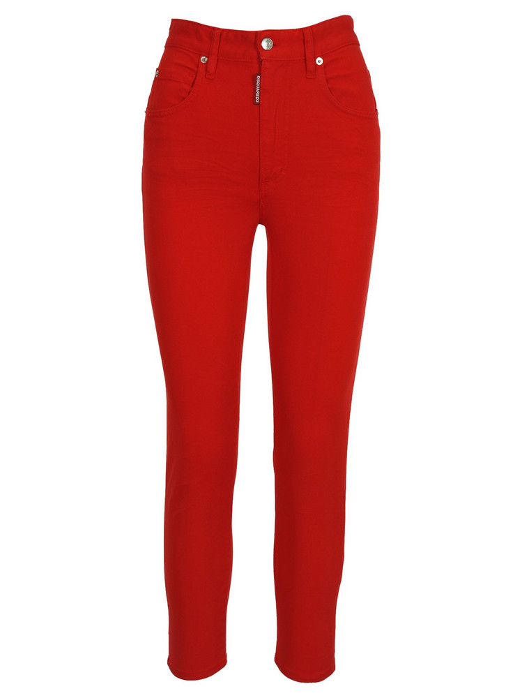 Dsquared2 D Squared Dsquared High Waist Twiggy Jeans in red
