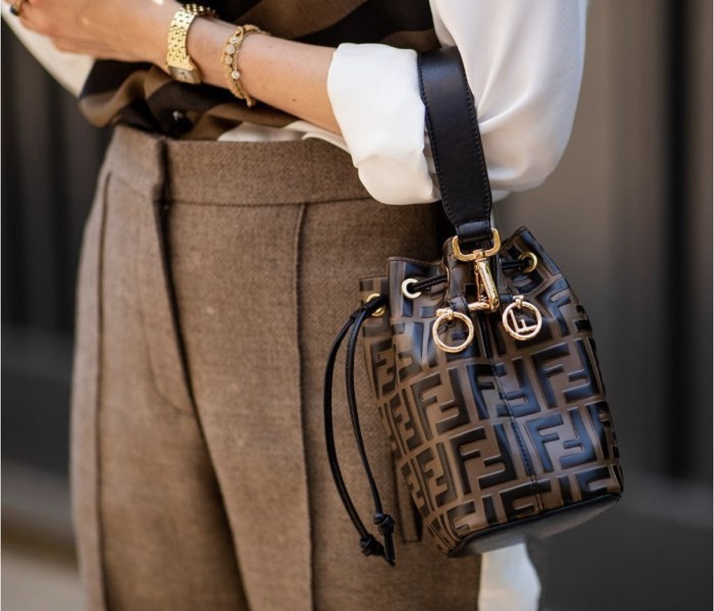 bag fendi brown clutch leather