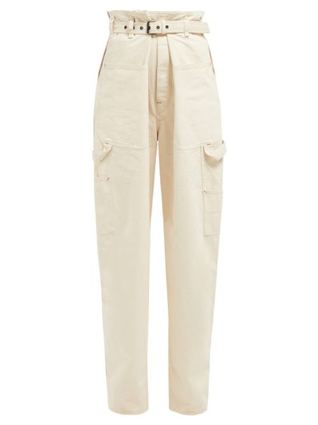 Isabel Marant - Inny Paperbag Waist Jeans - Womens - Ivory