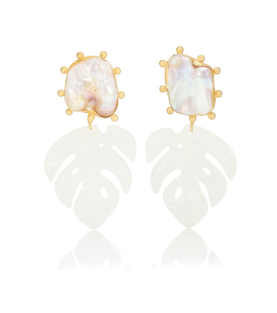 Peet Dullaert Saba 14kt gold-plated and pearl earrings in neutrals