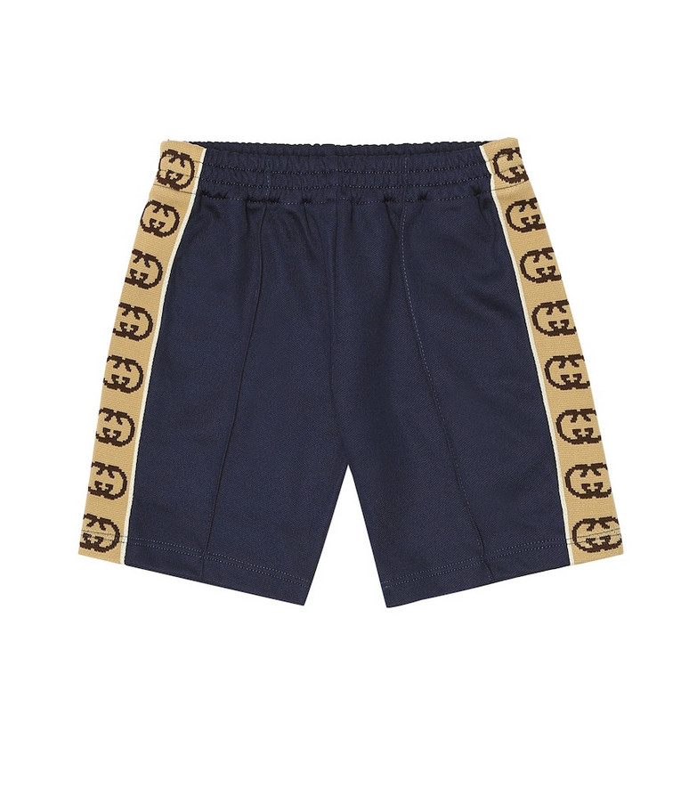 Gucci Kids Baby GG jersey shorts in blue