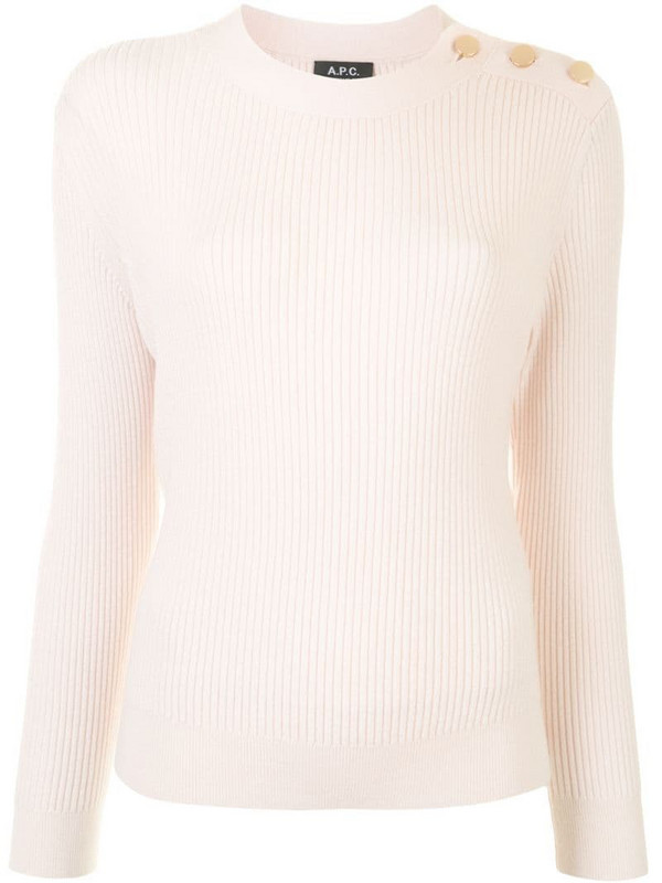 A.P.C. Paola buttoned jumper in pink