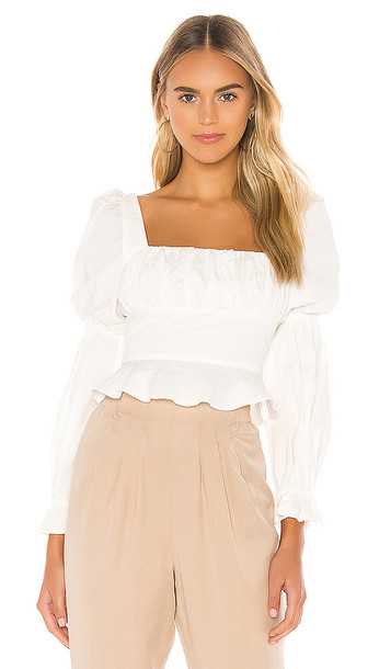 MAJORELLE Preston Top in White