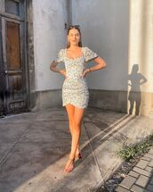 dress,mini dress,flat sandals,song of style