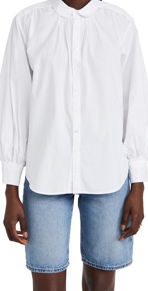 Alex Mill Kit Shirt in Paper Poplin in white