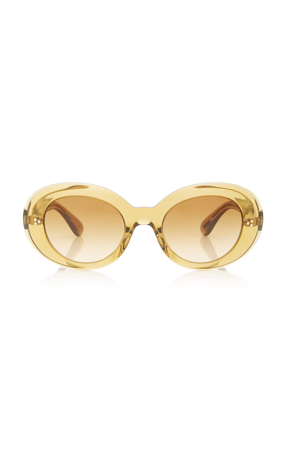 89ee0f64466da Oliver Peoples Erissa Round-Frame Acetate Sunglasses in yellow