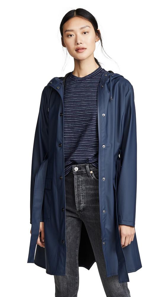 Rains Curve Jacket in blue