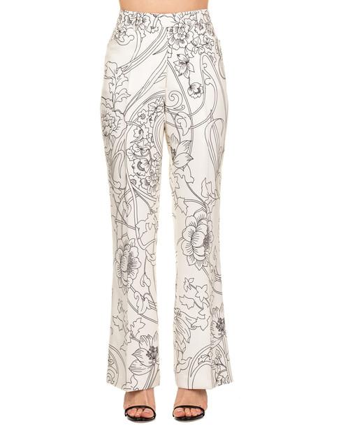 Etro Etro Silk Trousers in ivory