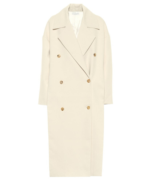 Co Cotton-flannel coat in white