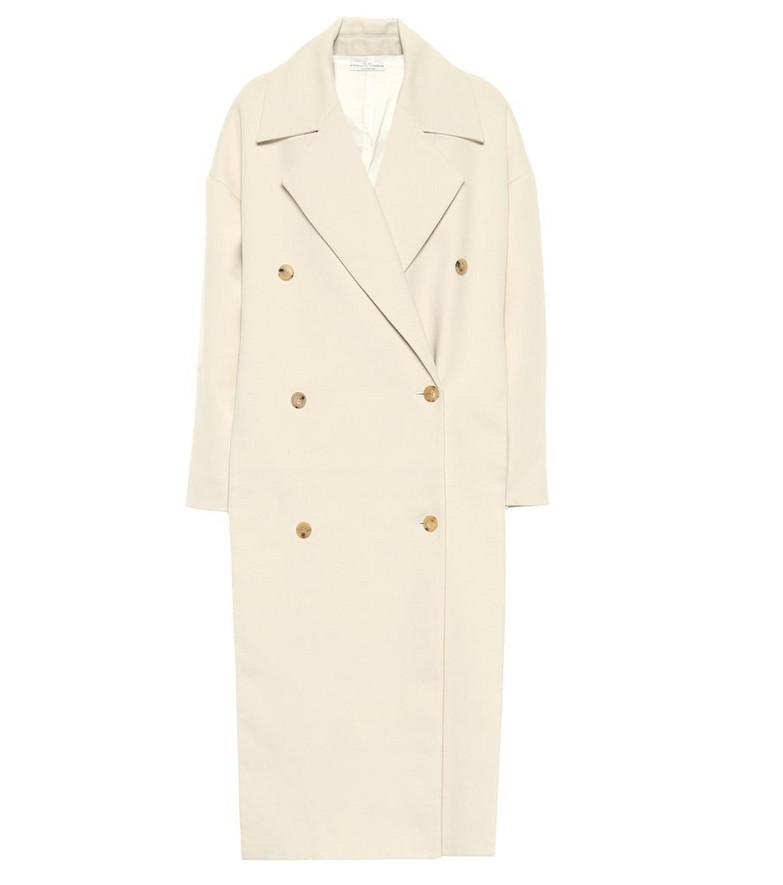 Co Cotton-flannel coat in white
