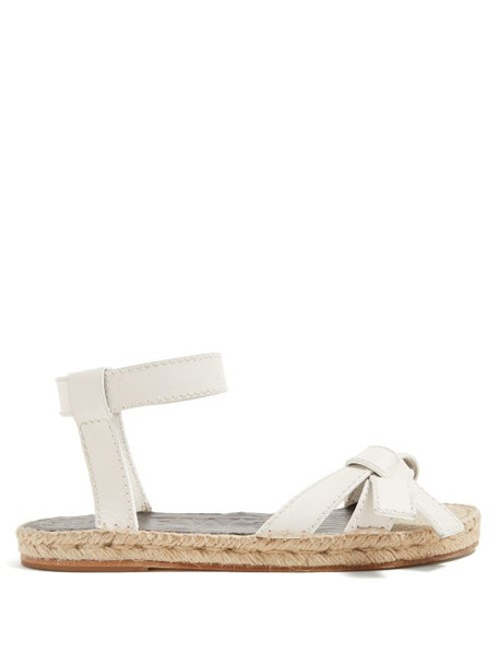 Loewe - Gate Knotted Leather Sandals - Womens - White