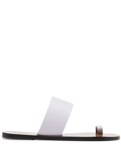 ATP Atelier slip-on leather flat sandals in white