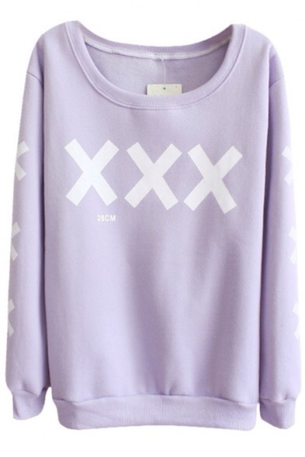 sweater pastel goth crosses lilac sweater pastle purplr shirt pasel purple white