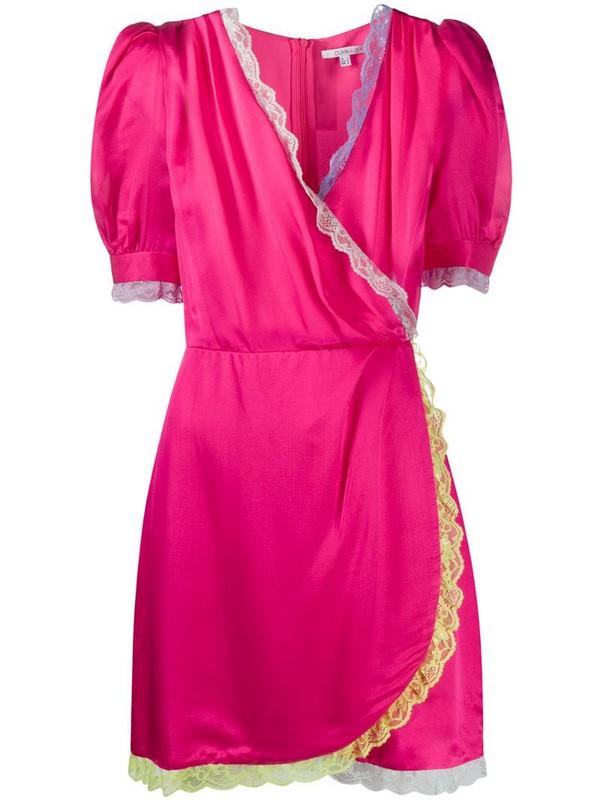 Olivia Rubin Lena neon mini dress in pink