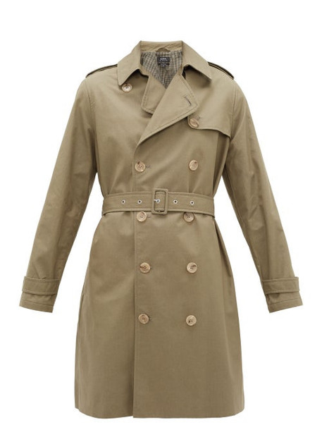 A.P.C. A.p.c. - Josephine Double-breasted Cotton Trench Coat - Womens - Khaki
