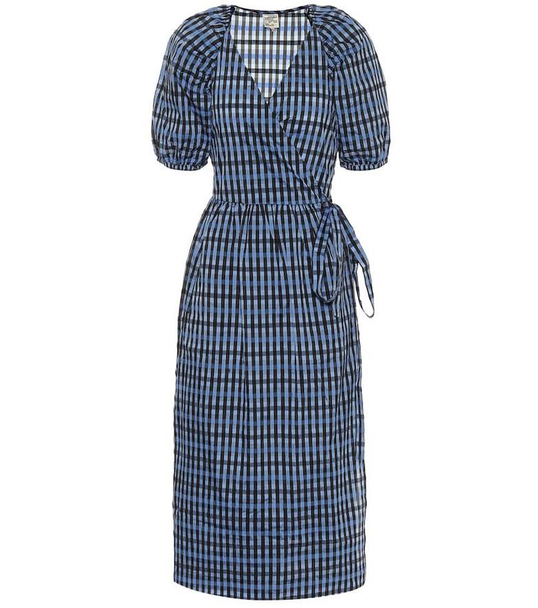 Baum und Pferdgarten Adalaine gingham wrap dress in blue