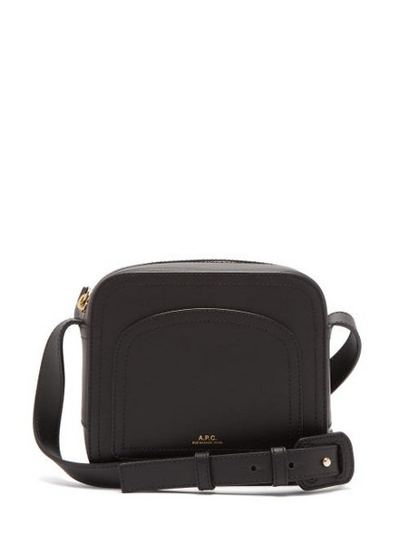 A.P.C. A.P.C. - Louisette Smooth-leather Cross-body Bag - Womens - Black