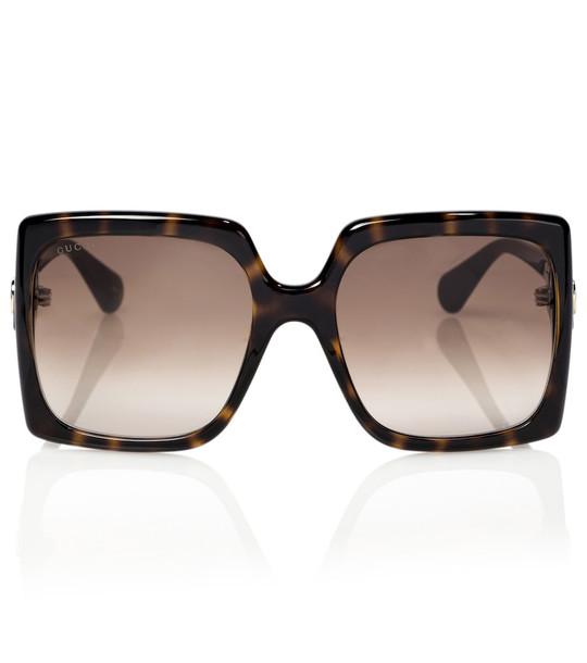 Gucci Square sunglasses in brown