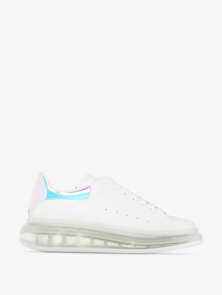 Alexander McQueen White leather platform sneakers