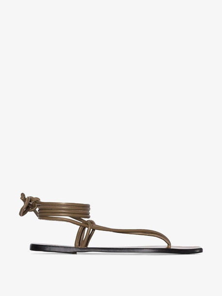 Atp Atelier brown alezio leather sandals