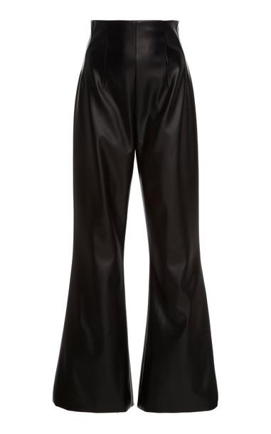 Emilia Wickstead Sammy Faux Leather Pants in black