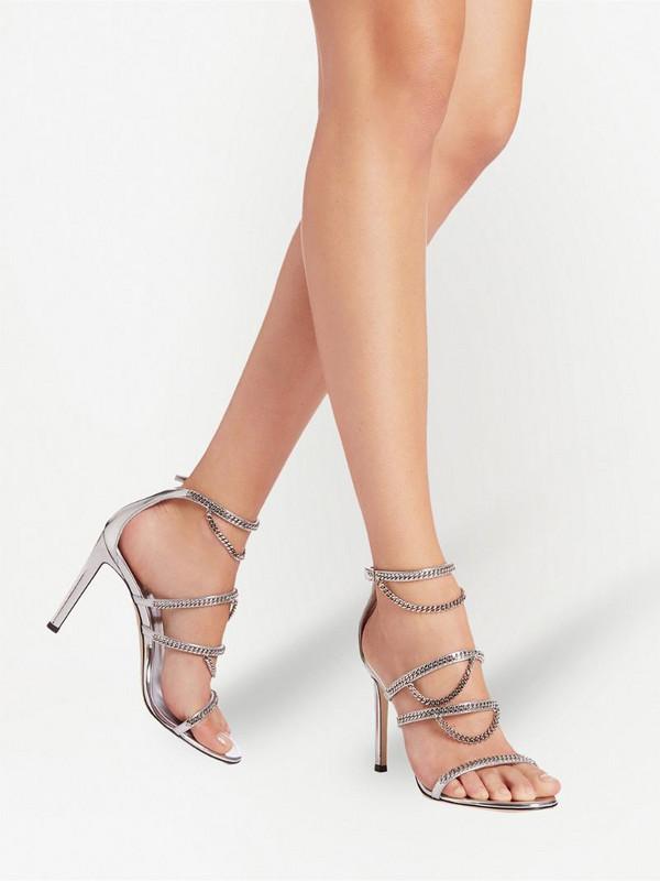 Giuseppe Zanotti Catena chain-strap sandals in silver