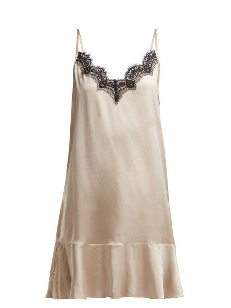 Icons - Jasmin Lace Trim Camisole Dress - Womens - Beige