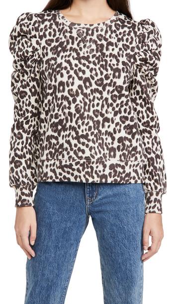 Rebecca Minkoff Janine Sweatshirt in multi / leopard