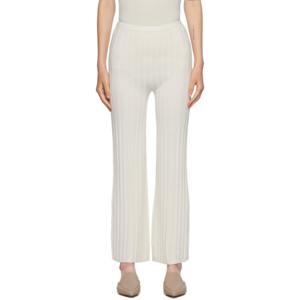 Toteme Off-White Cour Lounge Pants in ivory