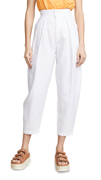 Edition10 High Waist Trousers in white