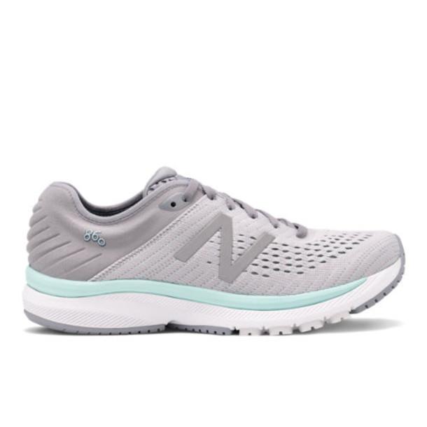 New Balance 860v10 Women's Stability Shoes - Grey (W860P10)