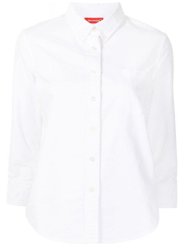 Denimist chest pocket shirt in white