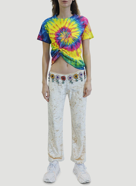Collina Strada Tie-Dye Ring T-Shirt in Yellow size XS