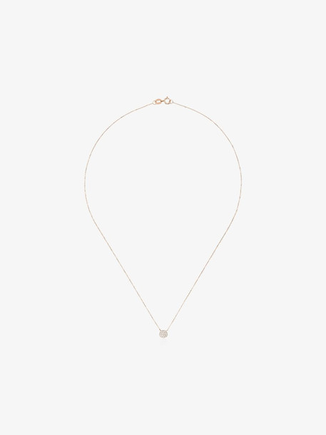 Dana Rebecca Designs 14K rose gold lauren joy mini disc diamond necklace